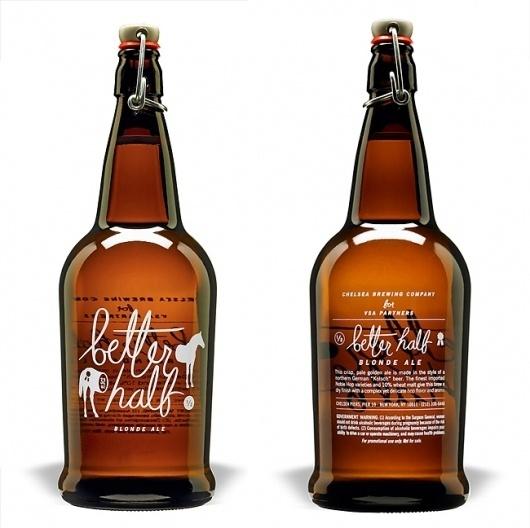Pretty Package: Better Half Blonde Ale|remnants #white #bottle #packaging #brown #logo