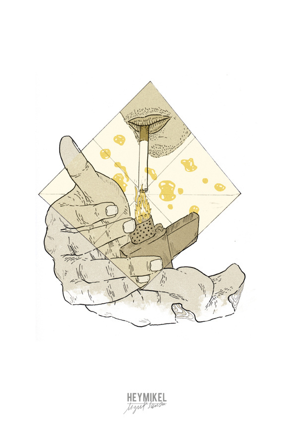 Nem tudo o que reluz xc3xa9 ouro on Behance #artwork #illustration #hands #zippo #smoking #drawing