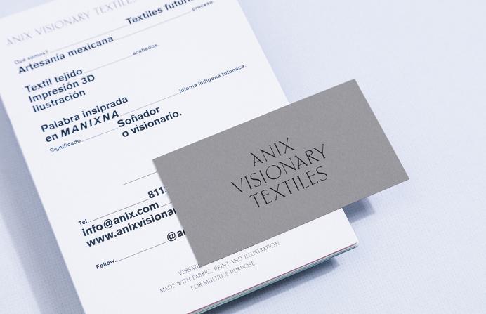 Anix Visionary Textiles branding parametro studio monterrey mexico mindsparkle mag PRINT stationery business card logo logotype corporate de