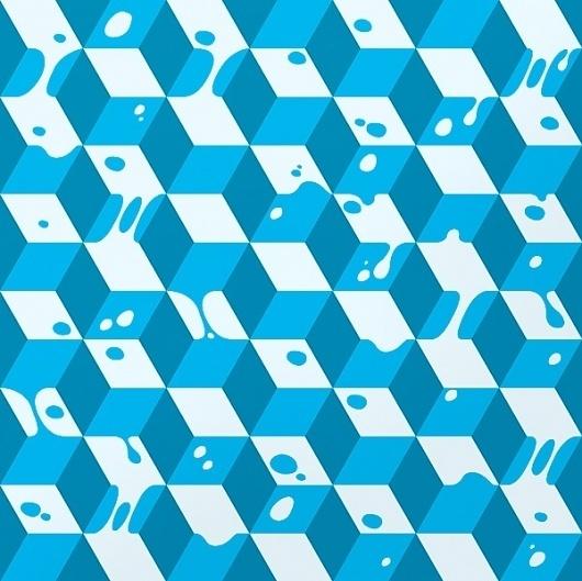 EMILKOZAK.COM » Exhibition Vallery #pattern #graphic #boxes #blue #cube