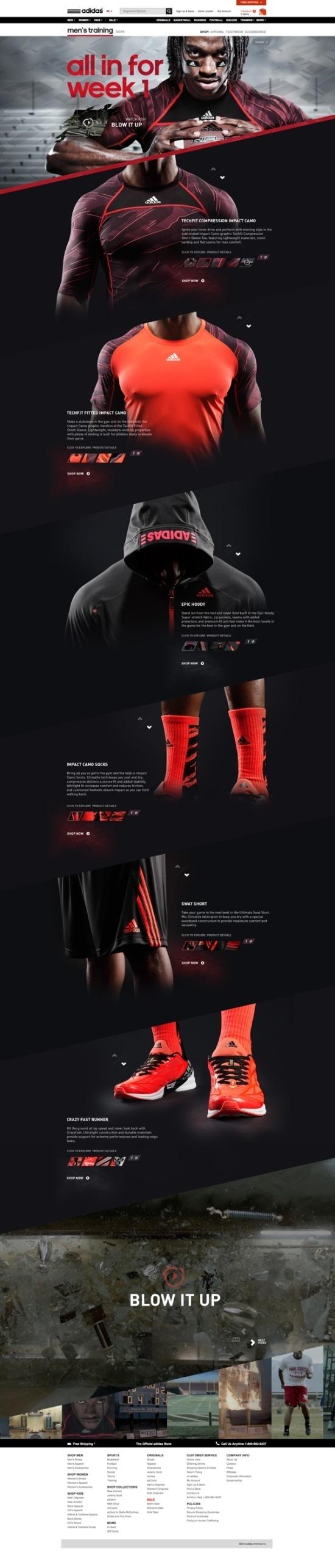 adidas Week 1 Experience by Ryan Mendes, via Behance #site