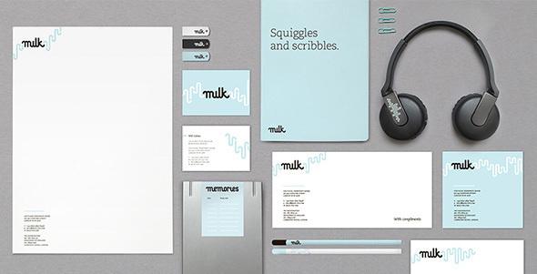 Milk #identity #logotyope #branding #stationery