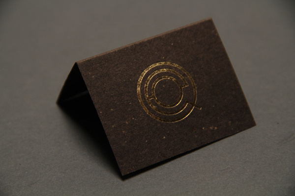 01 qeo keel kowski #business #card #letterpress #monogram #gold #emblem #foil