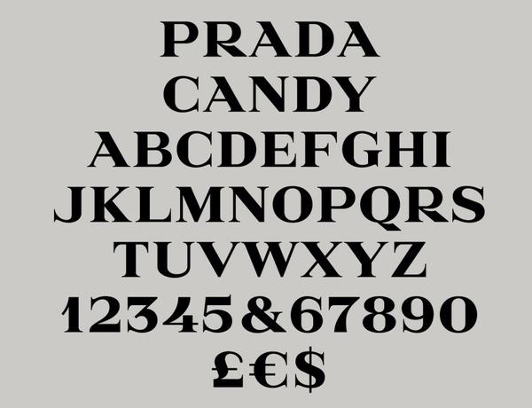 Prada Candy Typeface by Gareth Hague | Alias | typetoken® #candy #typeface #prada