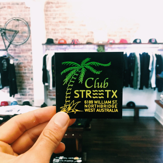 sticker, street x