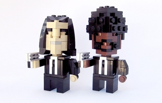 Pulp Fiction in LEGO | THEINSPIRATION.COM l THIS IS WH▲T INSPIRES US #travolta #lego #l #fiction #samuel #jackson #pulp #john