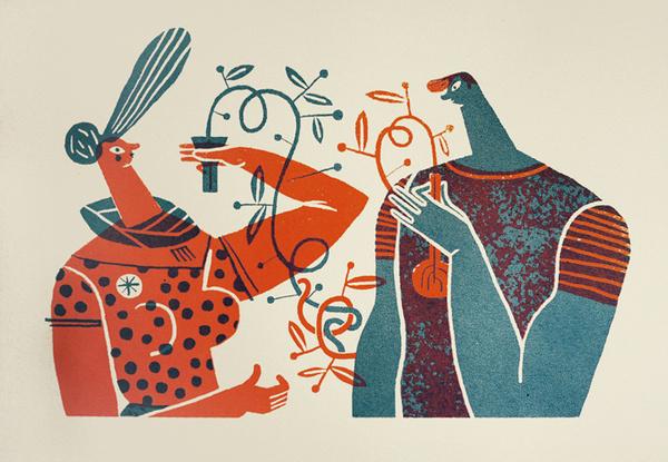 Wedding Screenprint : Studio Malotaprojects #illustration #mar #hernandez