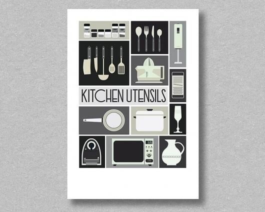 odbod — Kitchen Utensils | Esteve Padilla #white #padilla #esteve #black #utensils #kitchen #poster #and