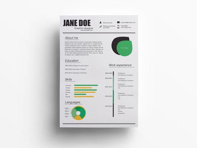 Helsinki Resume - Free Resume Template in Illustrator Format