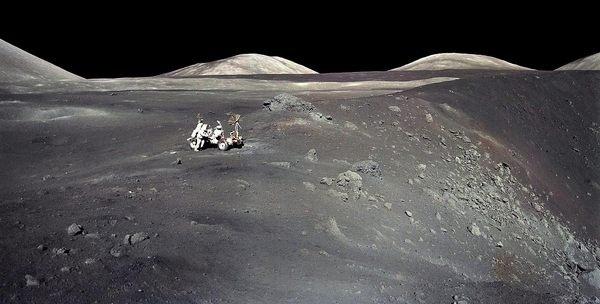 Apollo 17 at Shorty Crater #17 #nasa #apollo #moon