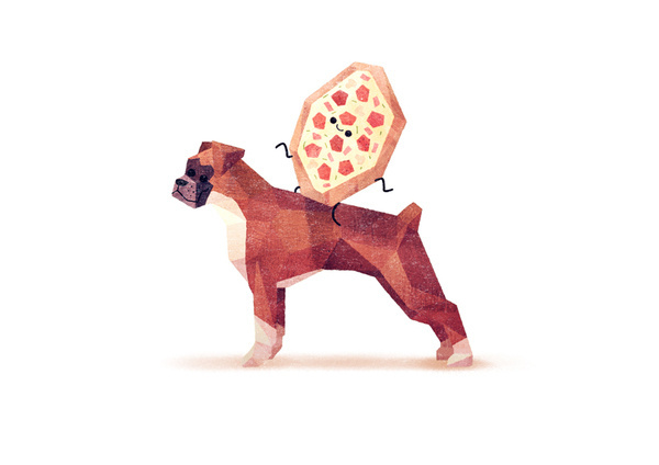 Collection of Cute Dogs by Benjamin Flouw - Things on Dogs #graphic design #collection #dog #food #illustrations