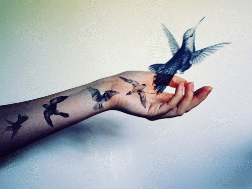 I love monday #girl #bird #tattoo #photography #animal