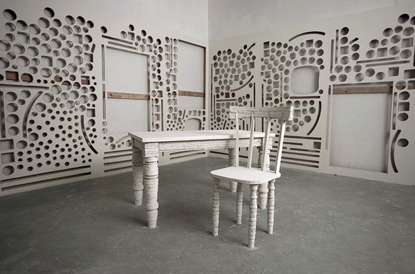 Scott Carters Sculptural Medium: Deconstructed Gallery Walls #interior #design #sculpture #art