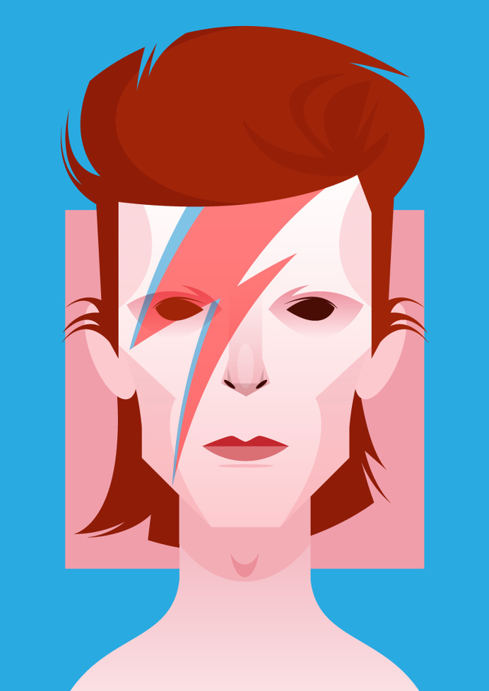 Bowie - Illustration - Stanley Chow
