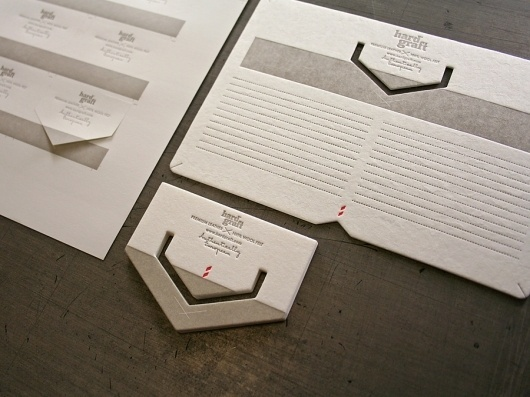 Hard Graft Print Collateral | Studio On Fire #card #letterpress #diecut