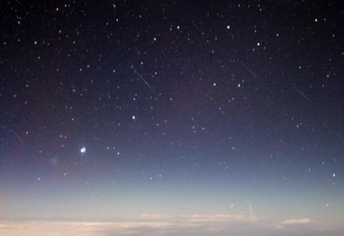 n a s a:Comets from 47,000 Feet Credit: Jeremie Vaubaillon, Caltech, NASA #blue #space #sky