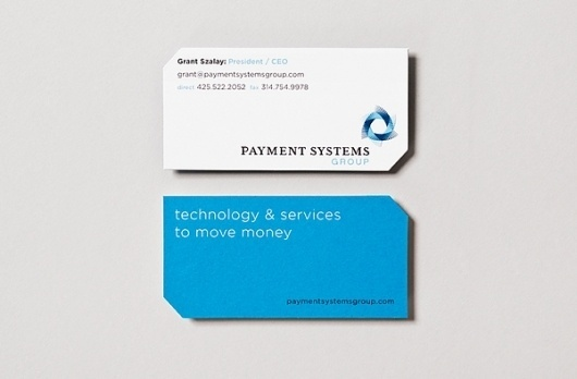 Payment Systems Group on the Behance Network #business #branding #diecut #cards #ply