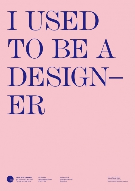 Will Hudson #that #design #nice #poster #type #its
