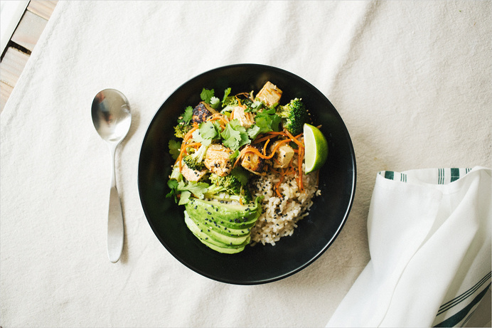 Lemon Grass Tofu Bowl . Sprouted Kitchen #food
