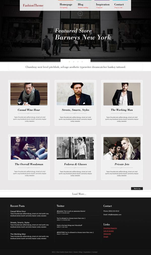 Fashion Wordpress Theme #design #photography #fashion #layout #web