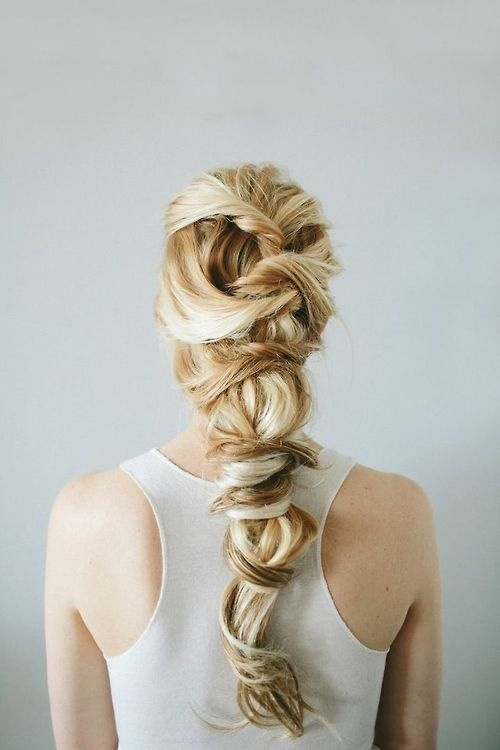 Girl with twisted braid hair