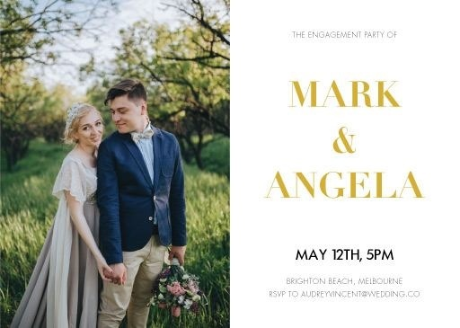 Photocards - Engagement Invitations #paperlust #engagement #invitation #engagementinvitation #design #digitalcards #photocards