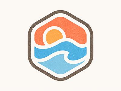 Sunrise Badge by Yoga Perdana #logo #design #badge