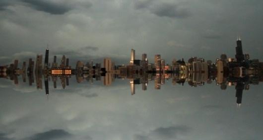 floating-chicago3 | Fubiz™ #floating #chicago #skyline #sky