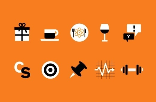 campsite #drawings #orange #icons #illustration #system