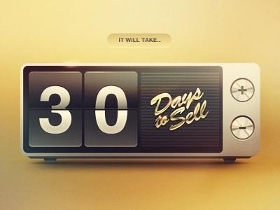 Dribbble - Days to Sell by Eddie Lobanovskiy #clock