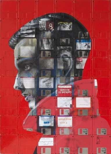 All sizes   LIFE STORY   Flickr - Photo Sharing! #tech #recycle #obsolete #cpu #reuse #floppy #disc #painting #art #face #disk