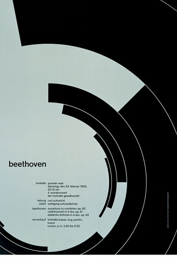 ..Graphically yours #swiss #beethoven #minimal #poster #typography