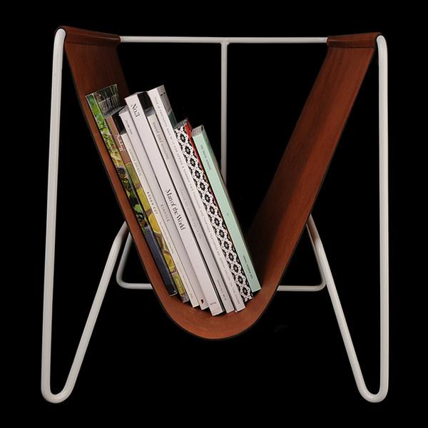 Makr Magazine Rack in Pale Grey #magazine rack
