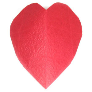 How to make a large origami heart (http://www.origami-make.org/howto-origami-heart.php)