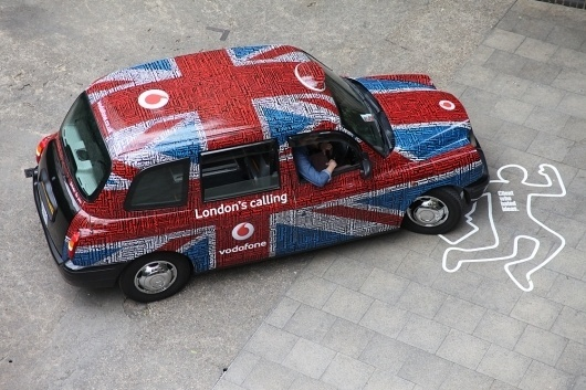 The Partners Website / Vodafone trains & taxis #london #design #graphic #the #livery #taxi #partners