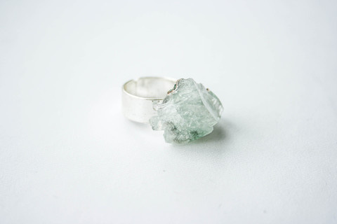 Firōzā Cube #crystal #silver #design #pulse #jewelry #frost #parallel #ring #cube