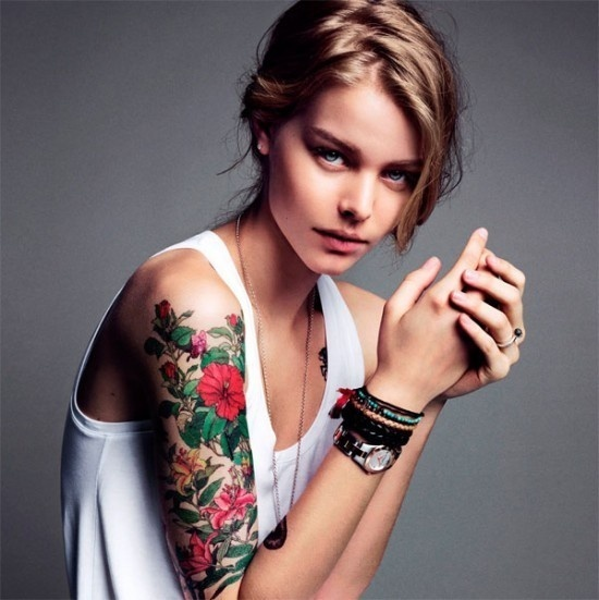 Beautiful Sleeve #model #girl #photography #tatoo #fashion
