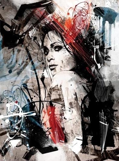 Mixed Media Portraits Bursting with Life - My Modern Metropolis #mixed #illustration #media