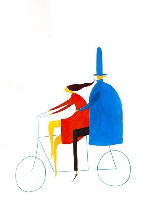 Today I Love This #illustration #bike