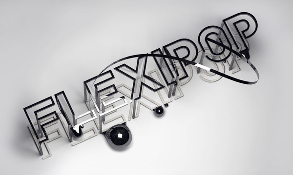 Flexipop PLASTICBIONIC ::: Art direction, Graphic Design #type #3d