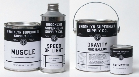Fonts In Use – Brooklyn Superhero Supply Co. #paint #typography