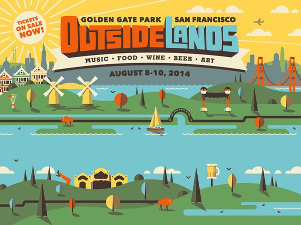 Outside Lands 2014 Branding #illustration