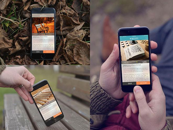 5 Free Realistic iPhone 6 Mockups
