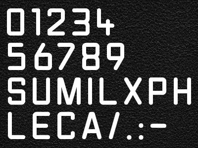 Leica Lens Font: LG1050 - By Aen #font #lens #leica #typeface #type