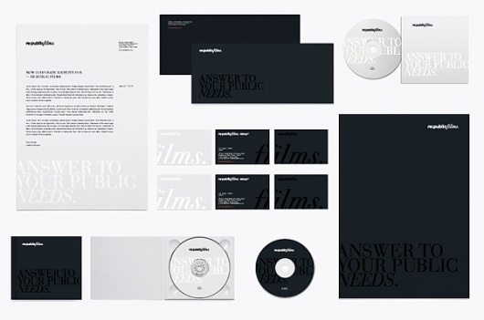 Re:public Films / South Korea / Seul on the Behance Network #identity #branding