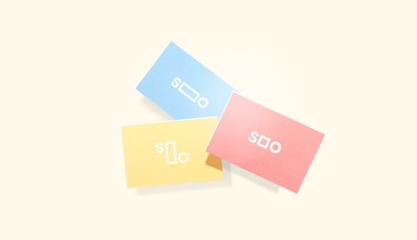 The Design Blog #business #pink #card #yellow #logo #identity #blue