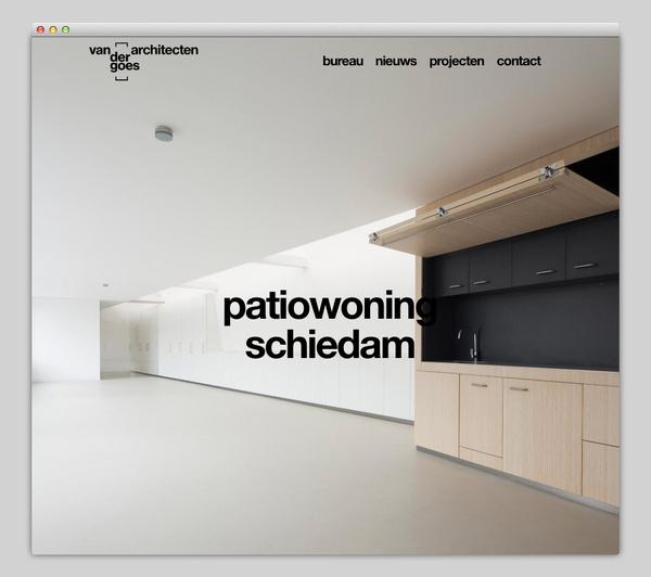 Van der goes Architecten #website #layout #design #web