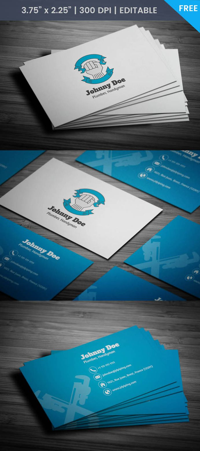 Free Plumber Business Card Template