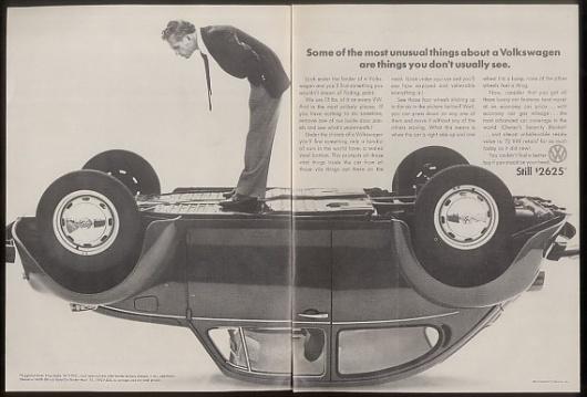 1974 VW Volkswagen Beetle upside-down car photo ad | eBay #volkswagen #1970s
