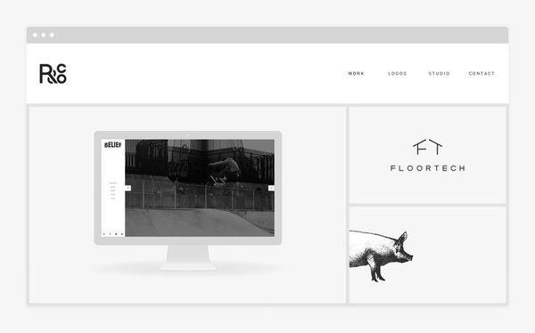 R&Co. Website - http://r-ny.com #responsive #design #clean #website #grid #digital #minimal #web